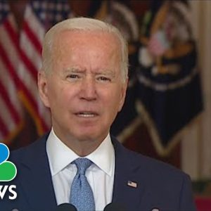 Biden Defends Decision To Withdraw From Afghanistan
