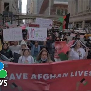 Afghan Americans Protest For More Refugee Visas Amid Humanitarian Crisis