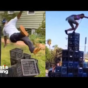 The Viral Milk Crate Challenge, Explained