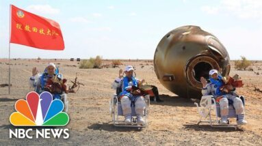 Astronauts Return After 90-day Mission To China's Space Station