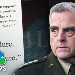 Joint Chiefs Chairman Milley Facing Backlash Over Bombshell Claims In New Book