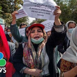 Kabul Women Demand Rights As Mayor Tells Them To Stay Home