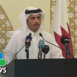 Qatar's Foreign Minister Urges Taliban To Respect Women's Rights