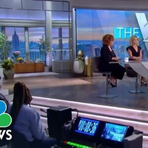 """Two """"The View"""" Hosts Learn They Are Covid Positive On-Air, Moments Before Harris Interview"""