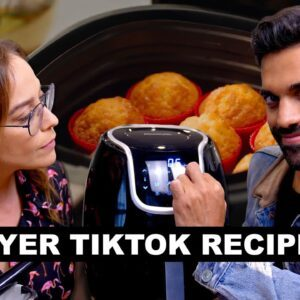 Trying Air Fryer Recipes and TikTok Pasta Chips!