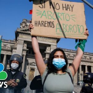 Women Across Latin America Demonstrate For Abortion Rights